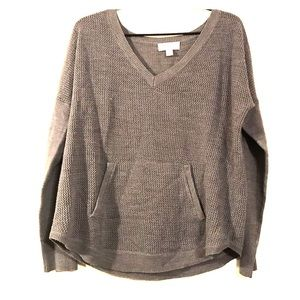 New York & Company Gray Cable Knit Sweater